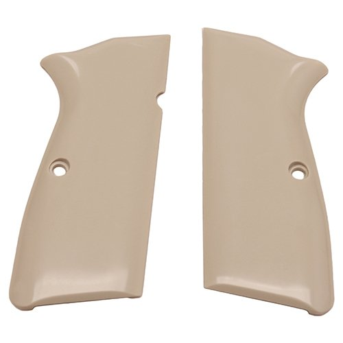 (Hogue 09020 Browning Hi-Power Scrimshaw Ivory Polymer Grip Panels, Ivory)