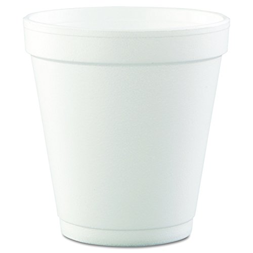 Dart 10J12 Conex Hot/Cold Foam Drinking Cups, 10oz, Squat, White, 40 Per Bag (Case of 25 Bags)