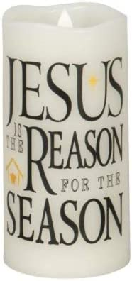 Jesus is The Reason for The Season LED Flameless Candle