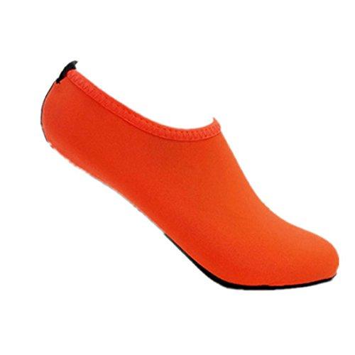 Hommes Femmes Yoga Surf Plage Snorkeling Chaussettes Natation Plongée Chaussettes Chaussures De Natation Orange