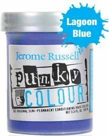 JEROME RUSSELL Punky Colour Hair Color Creme Lagoon Blue 3.5 oz by Jerome Russell