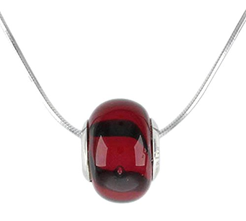 Charms 925 Sterling Silver Black Lines On Red Theme Murano Glass Crystal Beads Pandora Necklace