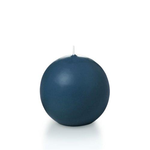 "Yummi 2.8\"" Sapphire Sphere / Ball Candles - 3 per pack"