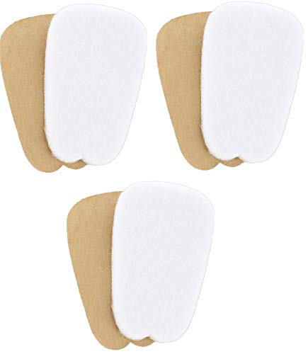 3 Pairs of Felt Tongue Pads Cushion for Shoes (Medium)