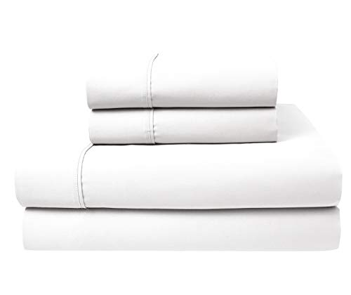 (Purity Home 300 Thread Count 100%COMBED Cotton Sheet Set,4 Piece Set,Bestselling QUEEN SHEETS PERCALE Weave,Classic Z Hem,Cool & Breathable,PATENTED Fitted Sheet Fits Upto 18