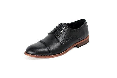 Taglia Ufficio Da 44 Uomo 39 Lavoro eu Moda Nero NUOVO Coi Casual 5 Formale Scarpe Elegante Lacci Oxford 5 wSqwP1