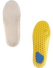 Holibanna 1 par de palmilhas infantis de pele de carneiro grossa para o inverno, palmilha quente de lã de cordeiro fofa, palmilhas de substituição para sapatos e botas