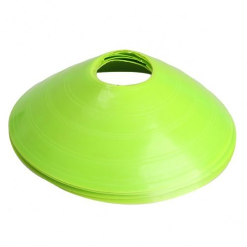 Dealglad 20 piezas f/útbol cono marcador discos espacio Fitness entrenamiento platillo Rugby deporte verde