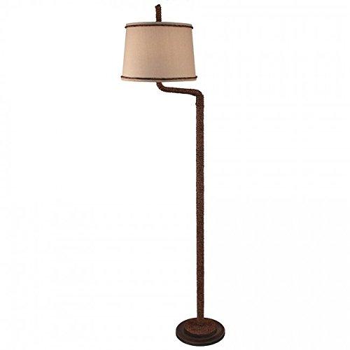 Sisal Rope Swing Arm Floor Lamp