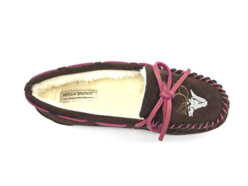 Animal Brown Driving Foam Loafer Flat Moccasin Memory Embroidery Shoes Slippers Women's qvP8waA