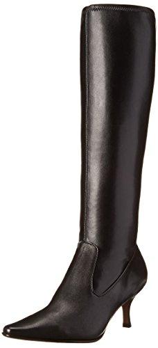 Donald J Pliner Women's Nikko-30 Riding Boot,Black Stretch Nappa,7.5 US/7.5 M US