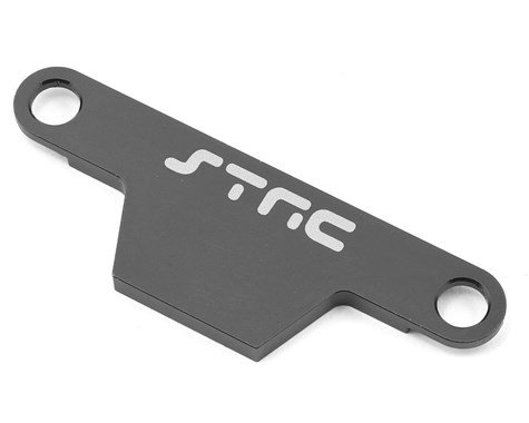 ST Racing Concepts ST3727AGM CNC Machined Aluminum HD Battery Hold Down Plate (Rustler/Bandit) Gunmetal