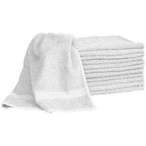 "White Salon Towel 100% White Cotton 16""x27"". Hand, Salon, Sp"