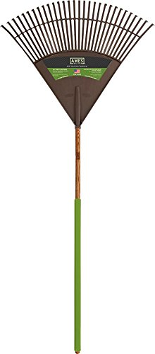 AMES 2915712 Poly Leaf Rake with Hardwood Handle, 72-Inch