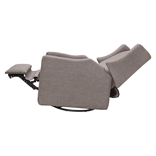 3172PRTjKeL - Babyletto Kiwi Electronic Power Recliner And Swivel Glider With USB Port In Grey Tweed, Greenguard Gold Certified