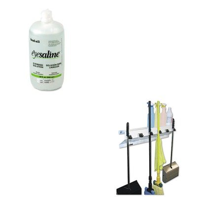 Bottle Eye Wash Fendall Refill (KITEXC3336WHT2FND320004550000 - Value Kit - Fendall Eye Wash Bottle Refill (FND320004550000) and Ex-cell The Clincher Mop amp;amp; Broom Holder (EXC3336WHT2))