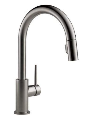 Delta Faucet 9159-KS-DST Single Handle Kitchen Faucet Pull-Down, Black Stainless