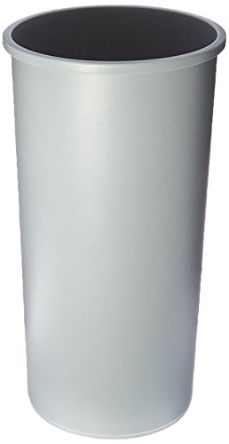 (Rubbermaid Commercial Products Untouchable Round Trash Can, Gray, 22 Gallons-RCP354600GY)