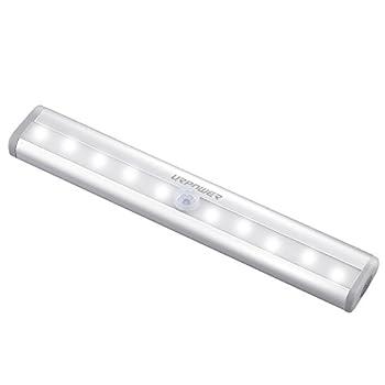 URPOWER Motion Sensor Light, 10 LED Battery Operated Wireless Motion Nightlight PortableMagnetic Security Closet Light Stick Up Motion Sensor Night Lights for Closets Hallway Stairway Bathroom (1)