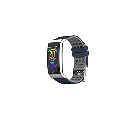 LJMR Smart Wristband Strap New E08 color screen intelligent ECG bracelet ECG PPG heart rate blood pressure exercise step waterproof Smart Wristband-bluegray Estimated Price -