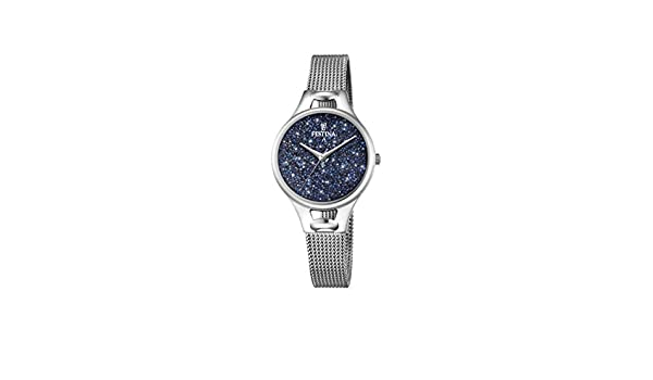 Amazon.com: FESTINA Watch Mademoiselle Female Only Time Blue With crystals - F20331-2: Watches