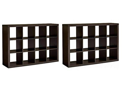 Better Homes and Gardens* 12-Cube Room Organizer (Set of 2), Espresso + Include Free Furniture Dust Cloth