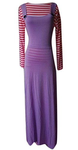 Coolred Dress Suit Tank Cami Purple Dress Tops Abaya Women Muslim Longline IxtqtR7