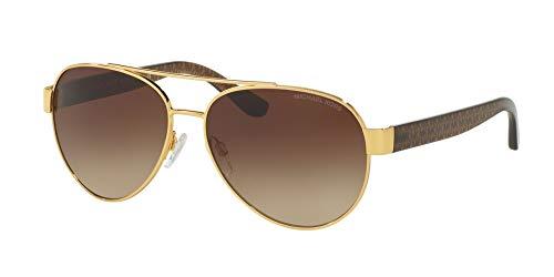 (Sunglasses Michael Kors MK 1014 112513 GOLD DARK BROWN )