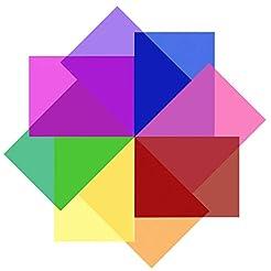 SAKOLLA 8 Pieces Transparent Color Corre...
