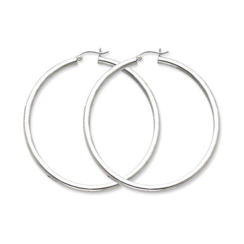 3mm sterling silver extra large hoop earrings   60mm 2