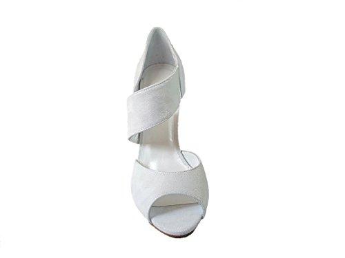 Femminili Pelle In Nenet Tacco Camoscio Gennia Di Bianco Toe Rubi Open A Cuoio Sandali Spillo Wx1wqwnTI