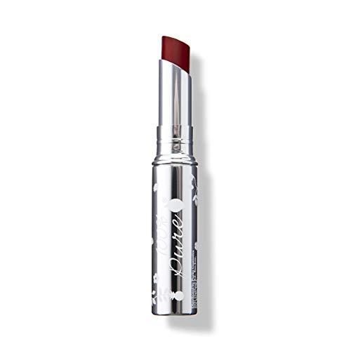 100% PURE Lip Glaze, Cherry, Tinted Lip Balm, With Cocoa Butter, Vitamin E, Lip Moisturizer, Natural Lip Balm (Deep Berry Purple Color) - 0.088 oz