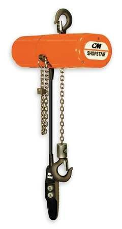 (Elec Chain Hoist, 600lb, 10ft Lift, 8fpm)