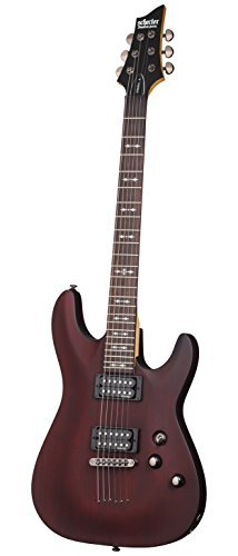 Series Diamond Guitar - Schecter OMEN-6 6-String Electric Guitar, Walnut Satin