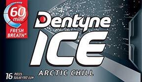 Dentyne Ice Arctic Chill Sugar Free Gum (Case of 9 Packs)