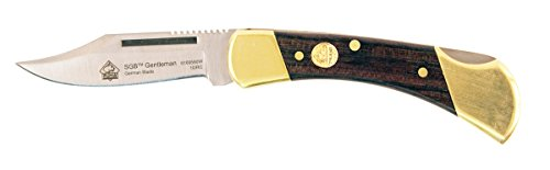 Puma SGB Gentleman Jacaranda Wood Lockback Folding Pocket Knife (Spey Blades Case)