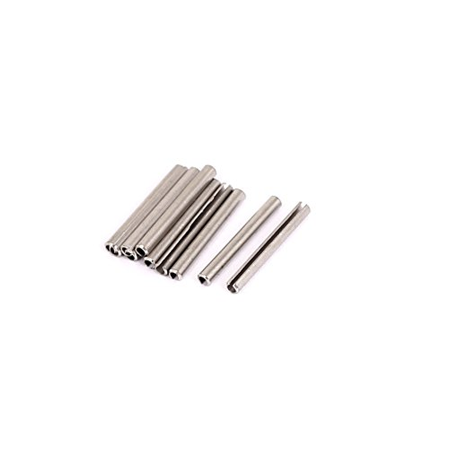 uxcell M2x20mm 304 Stainless Steel Split Spring Roll Dowel Pins 10Pcs