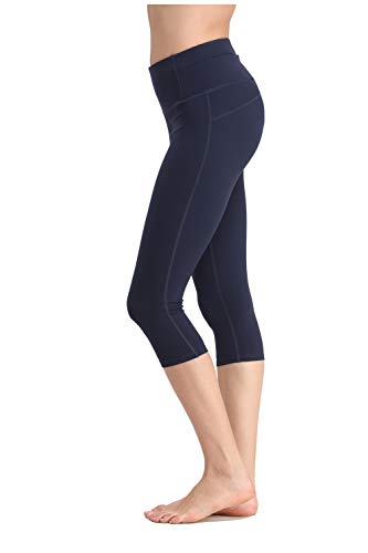 KAIDER Yoga Pants Leggings Capris High-Waist Tummy Control for Women