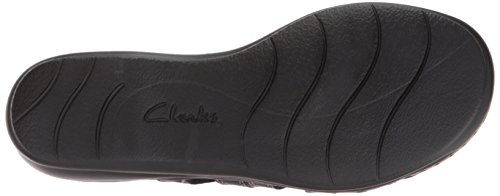 Clarks Womens Leisa Grace Platform, Navy Leather, 6 Medium US