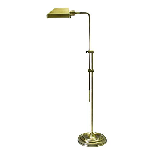 House of Troy CH825-AB Coach Collection 52-1/2-Inch Adjustable Pharmacy Floor Lamp, Antique Brass