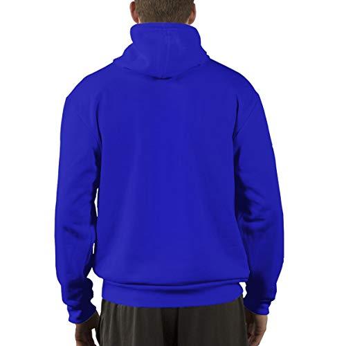 Ofsa Con Algodón Deportiva Taekwondo Azul Capucha Hombre Para Medium De Blanco Sudadera XnwqXrg