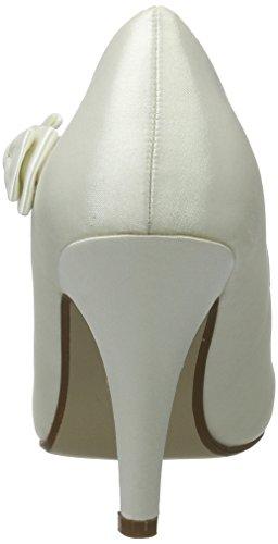 escarpins Femmes talon Ivoire haut chaussures sangle taille mariage strass babies nœud 8Sq4Bw8O