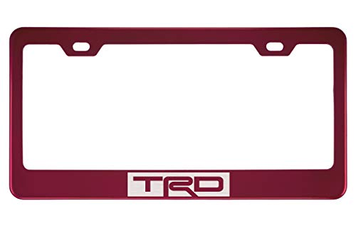 TRD Mirror Red License Plate Frame