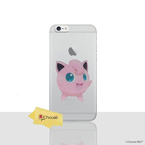 iPhone 6/6s Pokemon Caja de Silicona / Squirtle Cubierta de Gel para Apple iPhone 6S 6 / Protector de Pantalla y Paño / iCHOOSE Jigglypuff