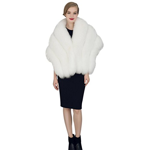 Christmas Gift, Egmy Trendy Bride Wedding Dress Faux Fur ...