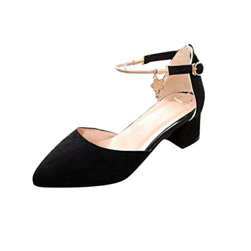 verano de Ouneed mujeres Moda Casual ® cuña Sandalias de alto Novia plataforma sandalias Negro de zapatos vestir tacón ERSwxqYqO