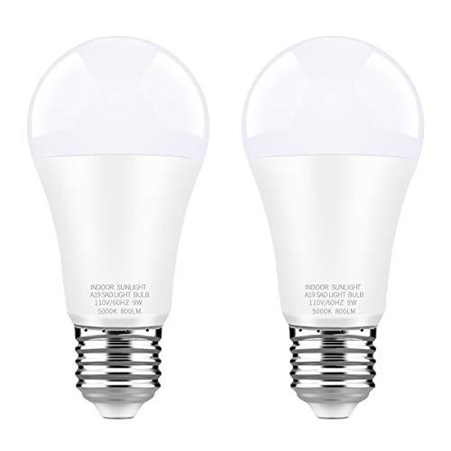 WhitePoplar 9W LED Full Spectrum Light Bulb Light Therapy Lamp