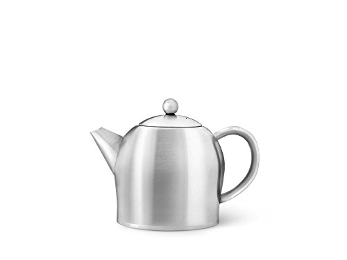 (bredemeijer 0.5Liter Teapot Double Wall Stainless Steel Satin SANTHEE)
