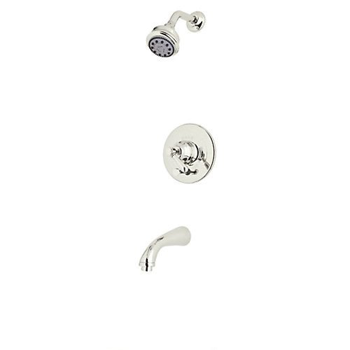 Rohl RBKIT18LM-PN Country Bath Verona Pressure Balance Shower & Bath Tub Package with Metal Lever Includes B240NSH 1440/6 C1703, Polished Nickel