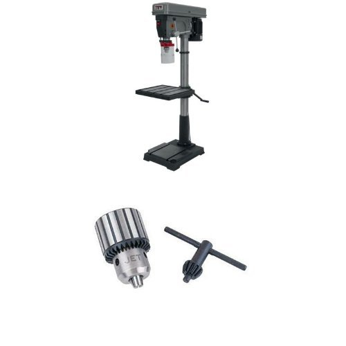 JET J-2550 20-Inch 1-Horsepower 115-Volt Single Phase Floor Model Drill Press with TDC-750, Taper Mount Drill Chuck 1/8